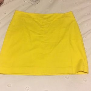 Bright yellow Loft skirt